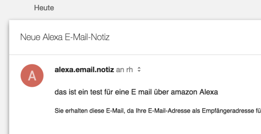 E Mail Notiz Alexa