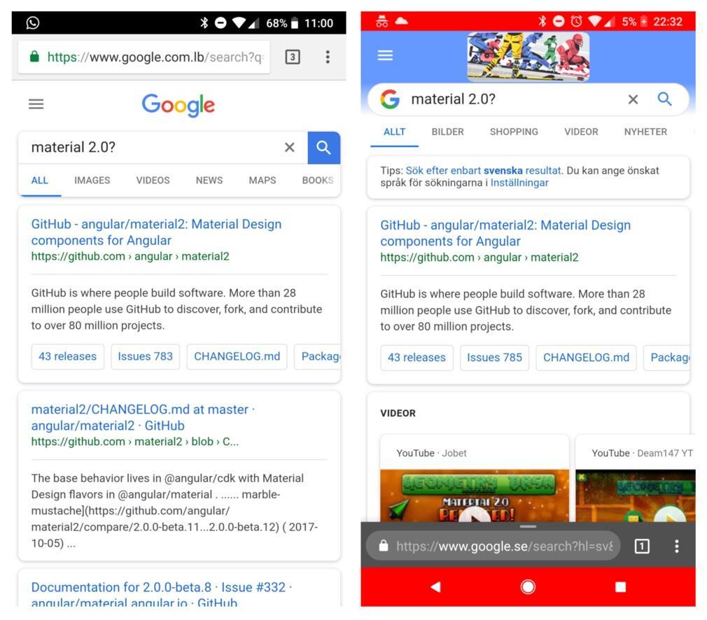 Google Suche Mobile Alt Neu