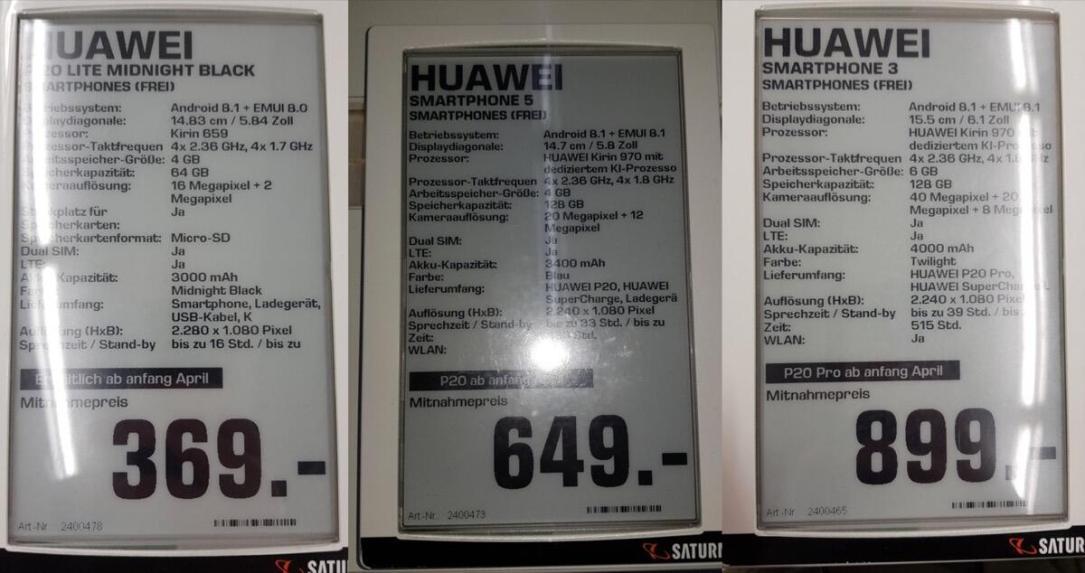 Huawei P20 Saturn