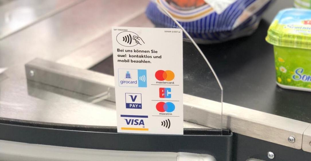 Kontaktlos Bezahlen Einkauf Karte