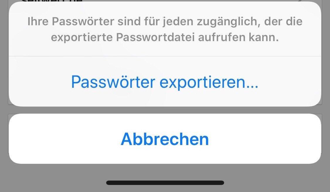 Chrome Passwort Export