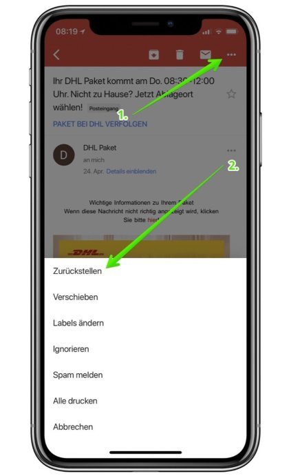 Gmail Zurueckstellen Mails Mobil