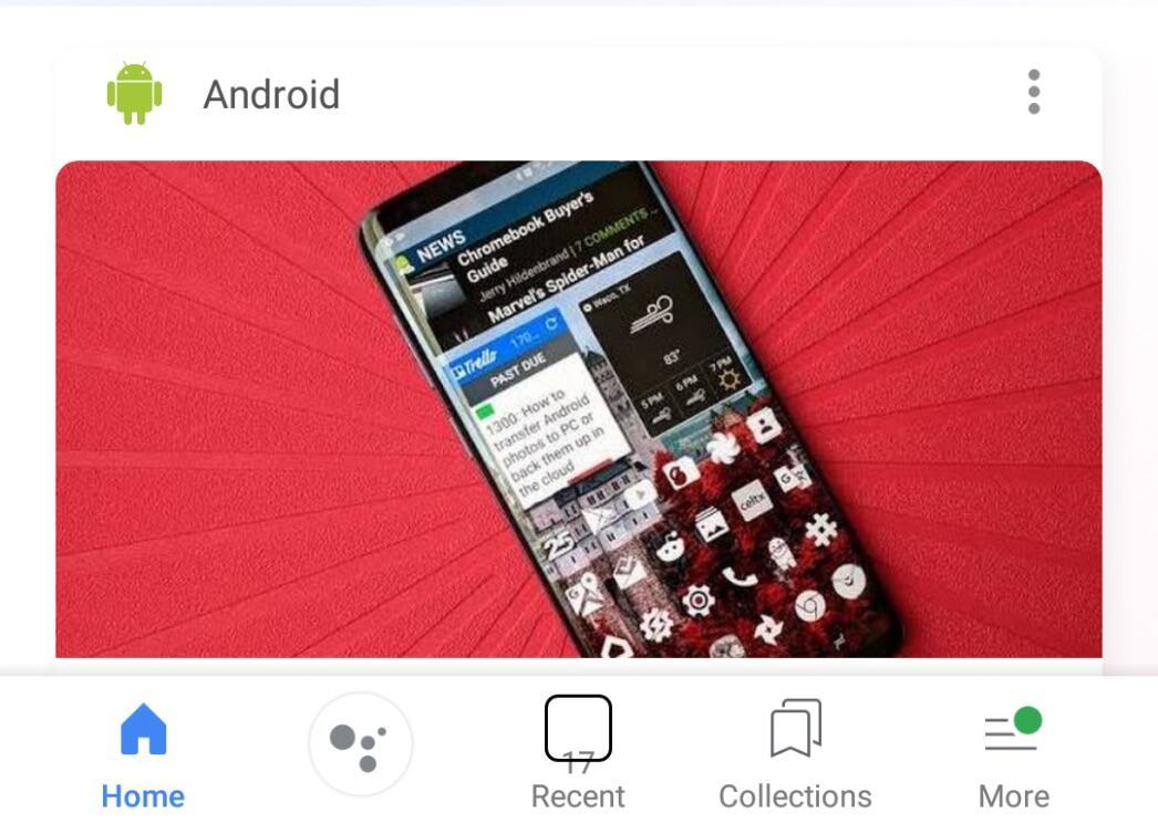 Google App Navi Leiste Material Design 2