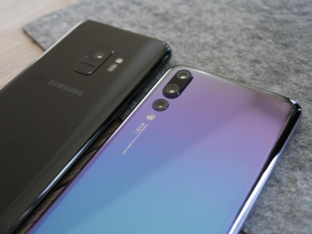 Huawei P20 Pro Samsung Galaxy S9 Vgl1