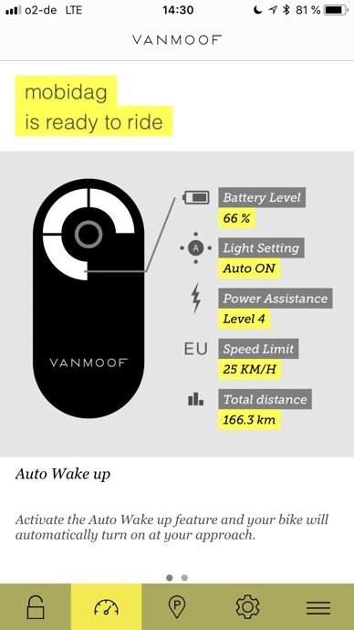 Vanmoof Electrified S App Screenshot 2