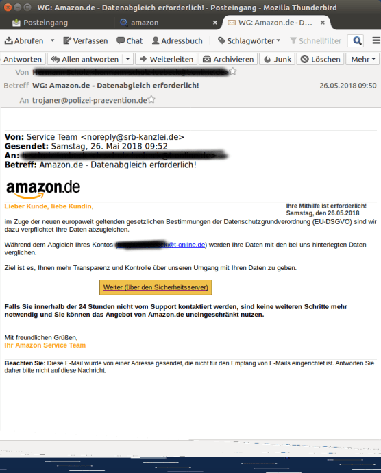 Amazon Dsgvo Fake