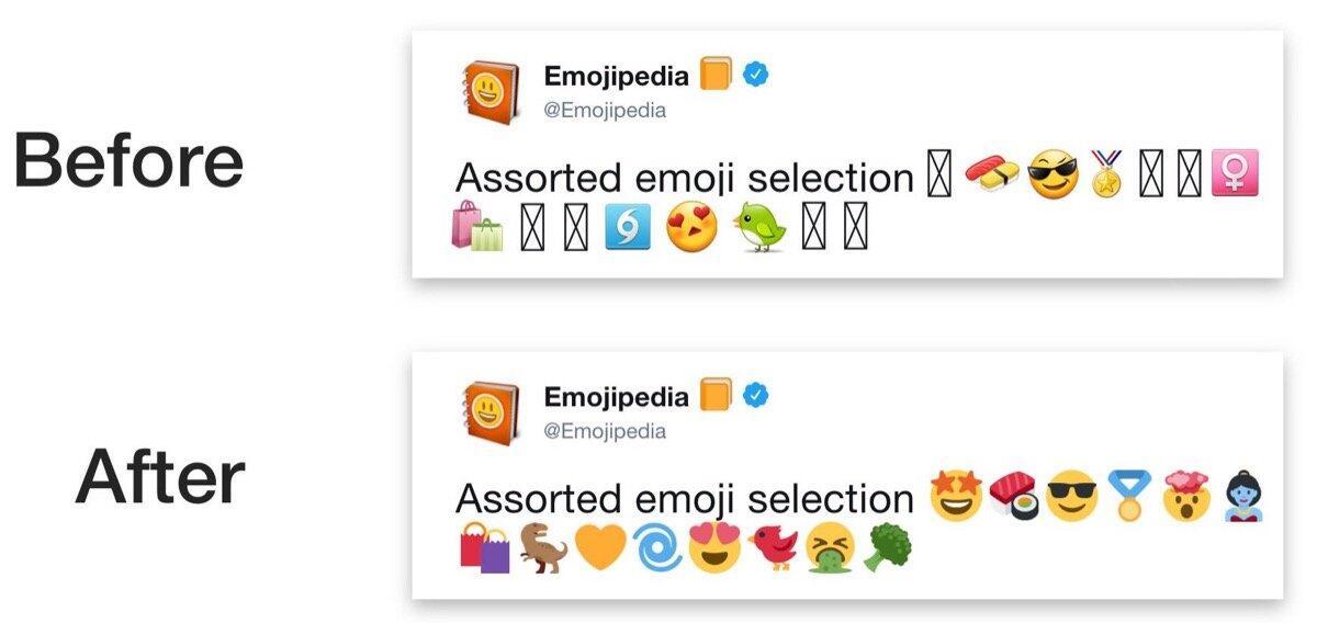 Before After Samsung Twemoji Emojipedia
