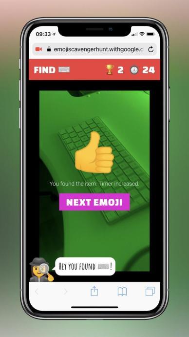 Emoji Scavenger Hunt: Neues AI-Experiment von Google