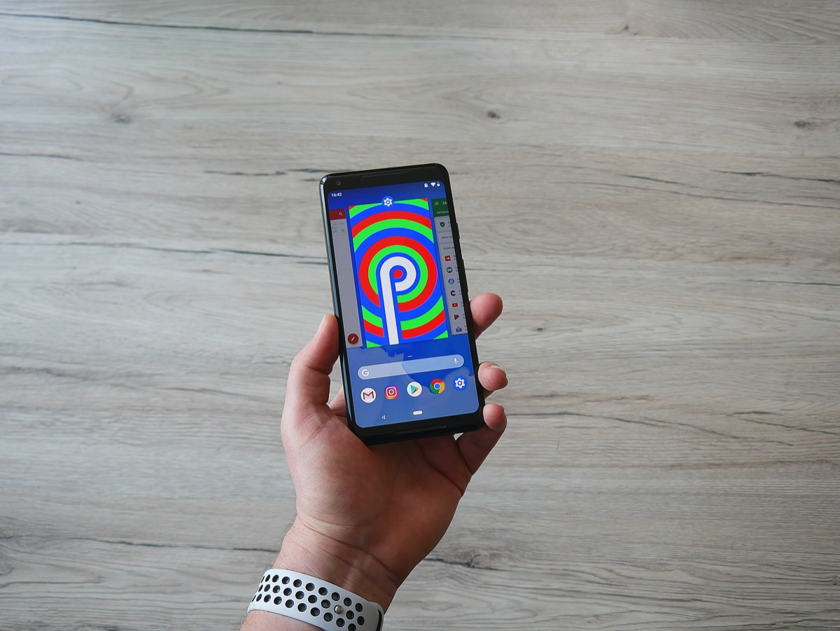 Google Android P Header