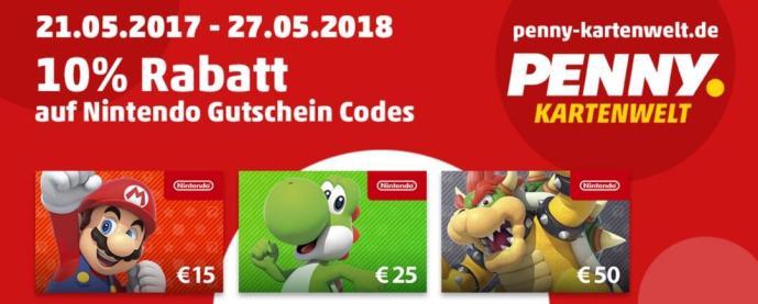 Nintendo Eshop Karte.Nintendo 10 Prozent Rabatt Auf Eshop Guthaben Bei Penny