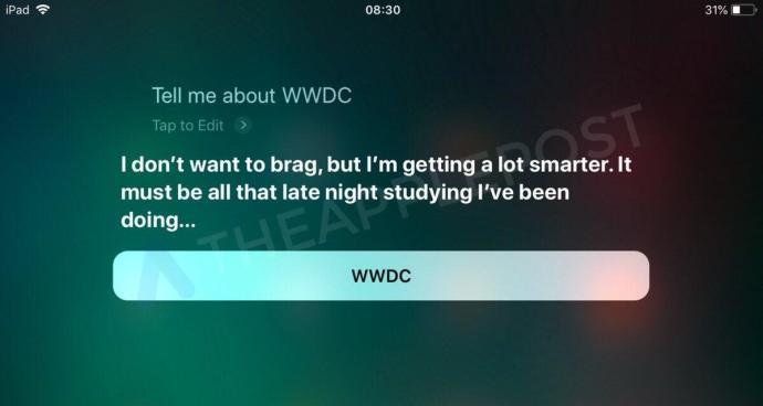 Siri Wwdc 2018