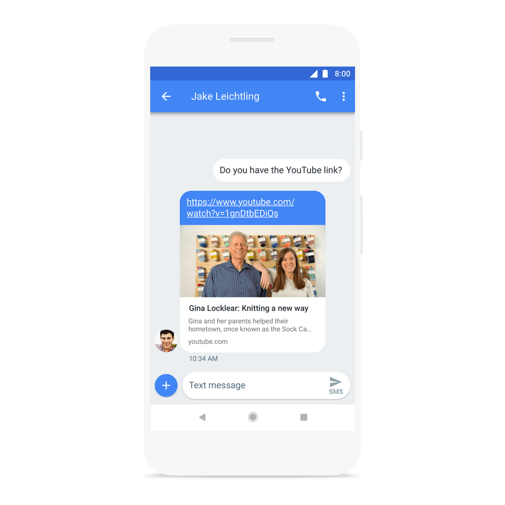Android Messages Link Vorschau