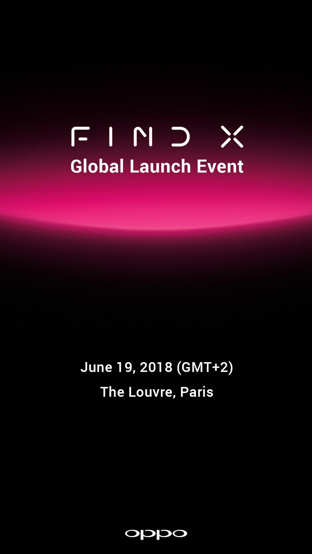 Oppo Find X Invitation