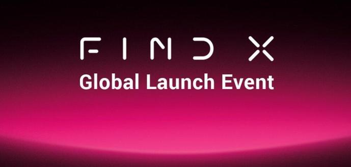 Oppo Find X Invitation Header