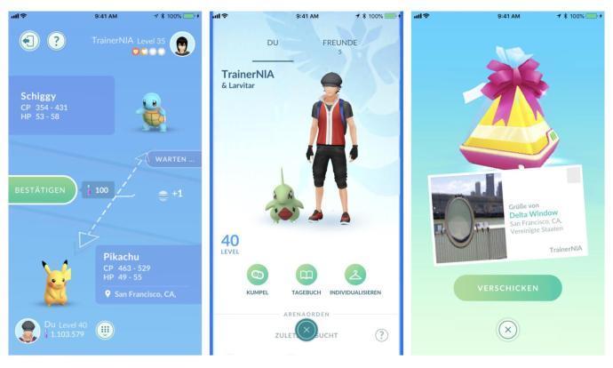 Pokemon Go Tausch Freunde Geschenke