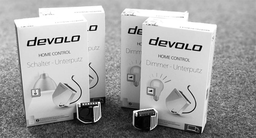 Devolo Unterputz-Dimmer und -Schalter eingetroffen
