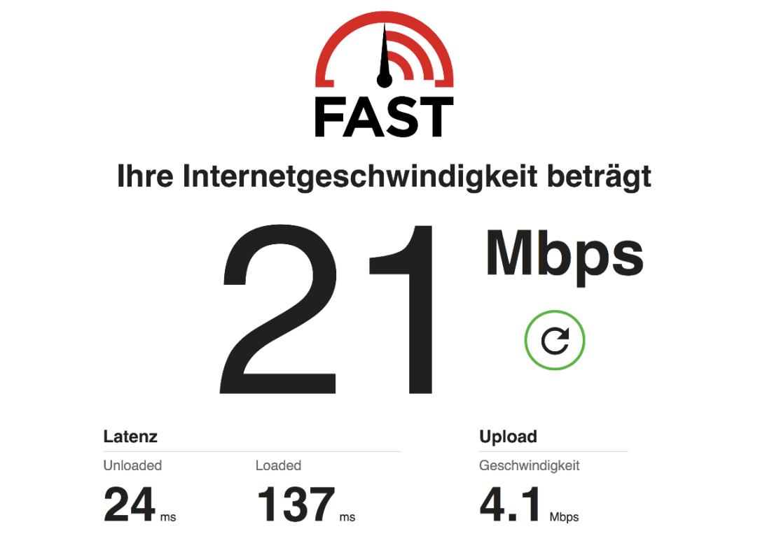 Fast Com Speedtest