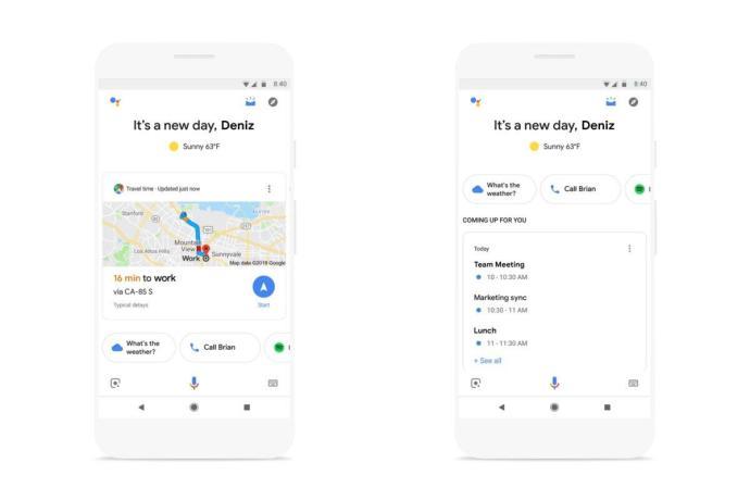 Google Assistant Snapshot Header