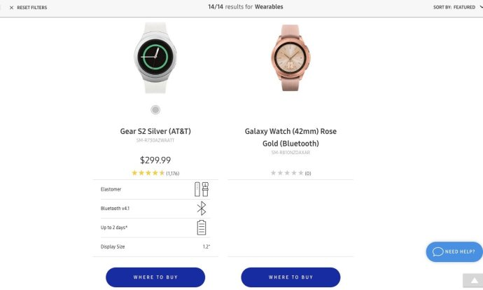 Samsung Galaxy Watch Leak Seite
