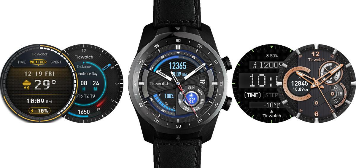 Ticwatch Pro Mit Watchfaces Der Ticwatch E Und S Header