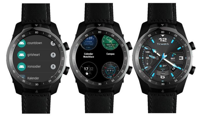 Ticwatch Pro Mit Watchfaces Der Ticwatch E Und S