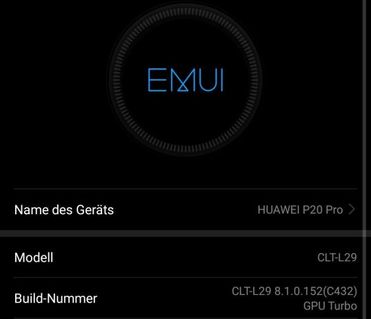Huawei P20 Pro Firmware Update Gpu Turbo