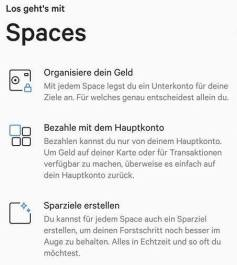 N26 Spaces Update Android