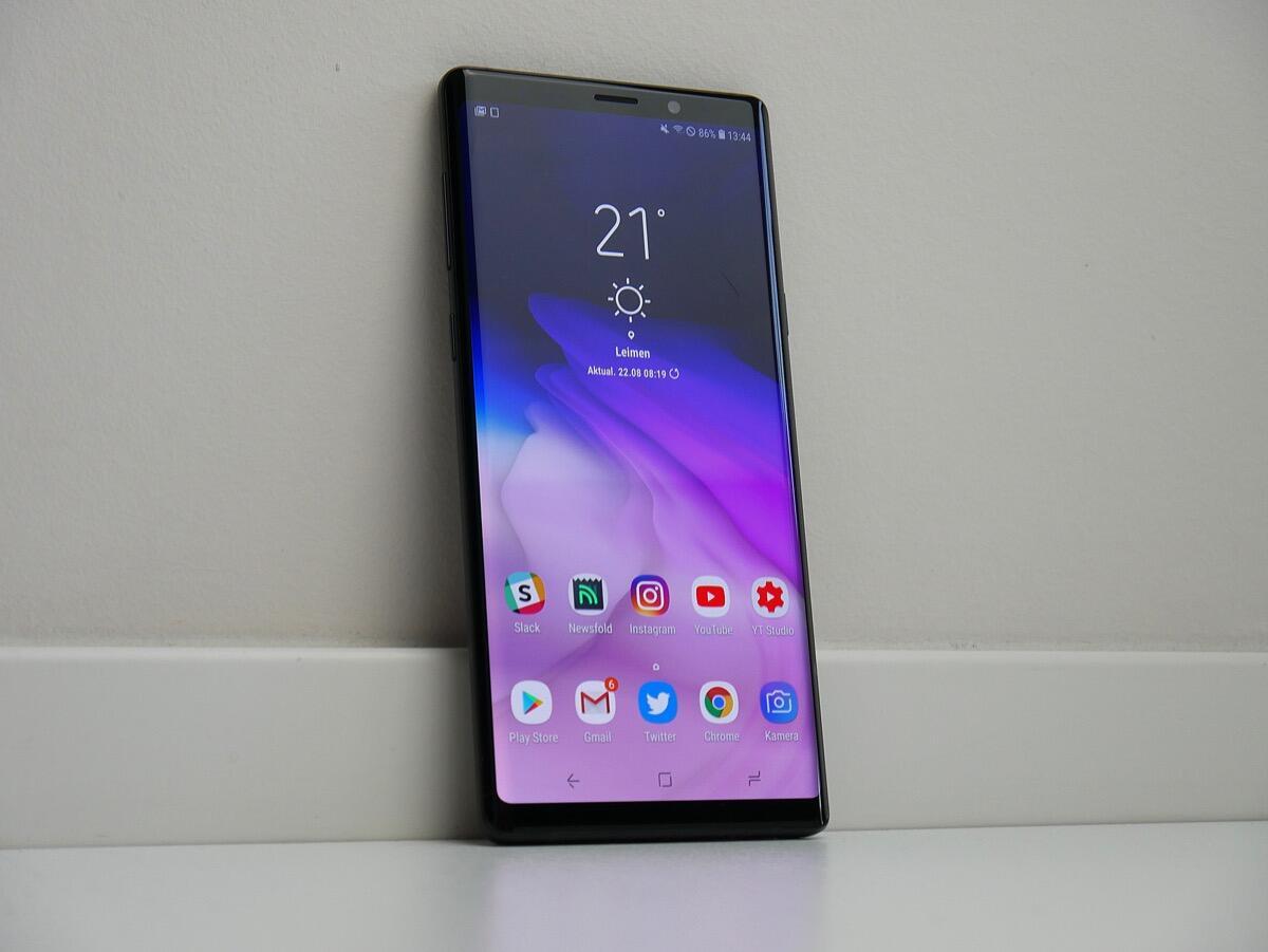 Samsung Galaxy Note 9 Front Header