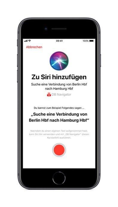 Db Vertrieb Gmbh Db Navigator Ios 2. Siri Shortcut Anlegen 09 2018