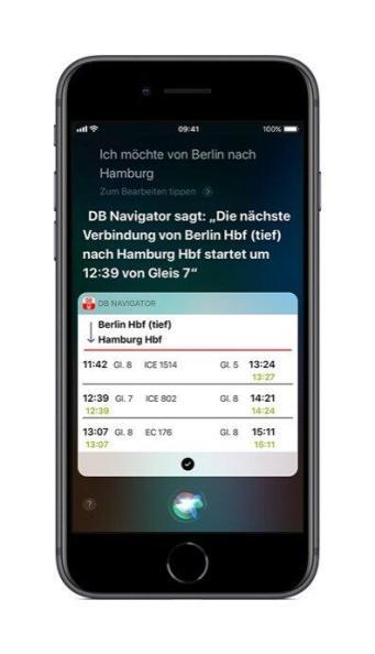 Db Vertrieb Gmbh Db Navigator Ios 3. Siri Sprachausgabe 09 2018