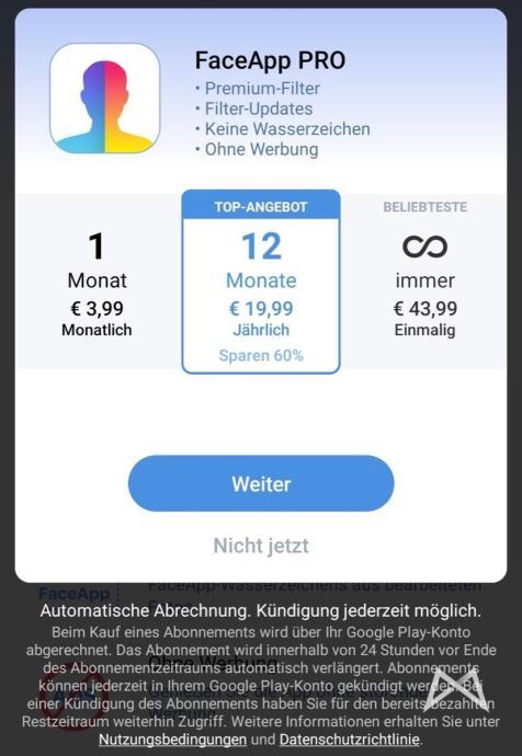 Face App Abo