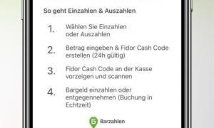 Fidor Cash Auszahlung