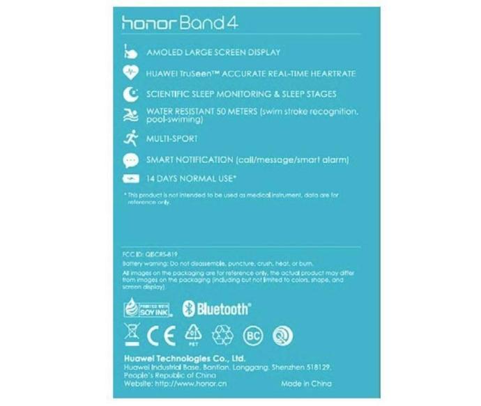 Huawei Band 4 Specs