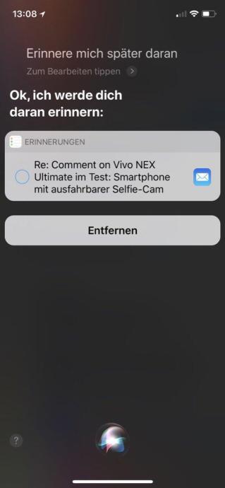 Siri Ios Erinnerung 4