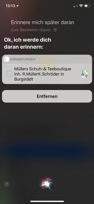Siri Ios Erinnerung 5