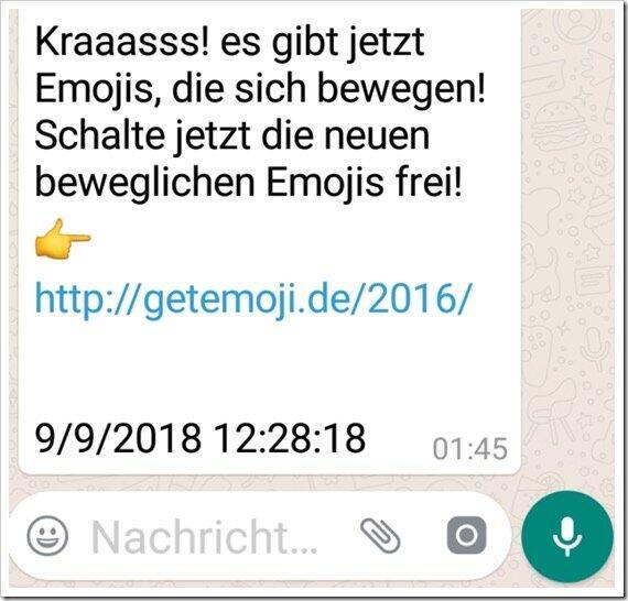 Bewegliche Emoji Für Whatsapp
