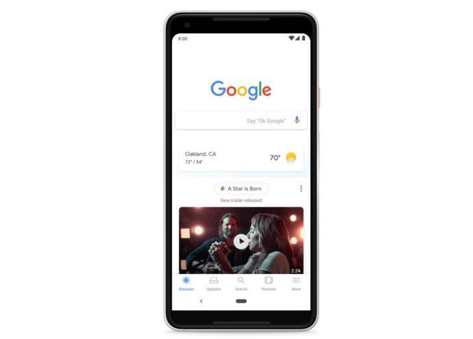 Google Suche Discover Header