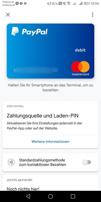 Paypal Google Pay Start
