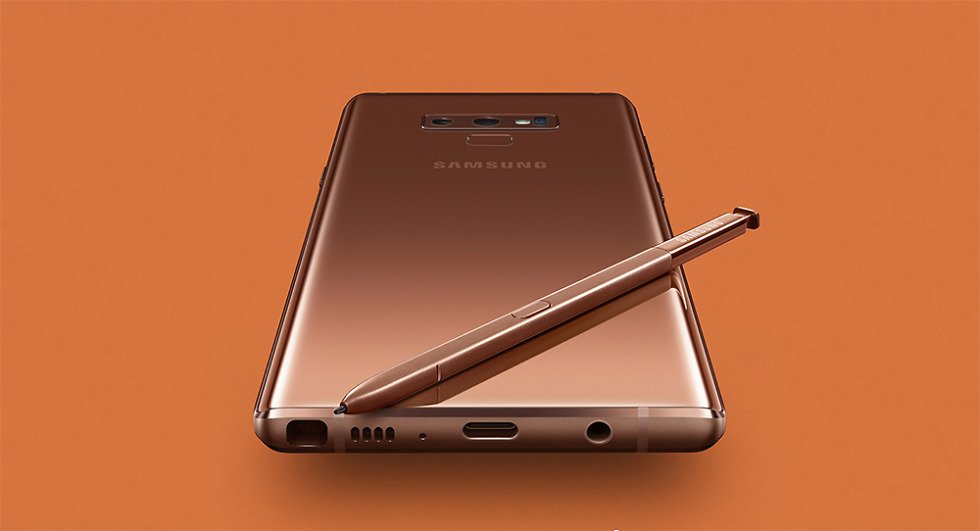Samsung Galaxy Note 9 Kupfer