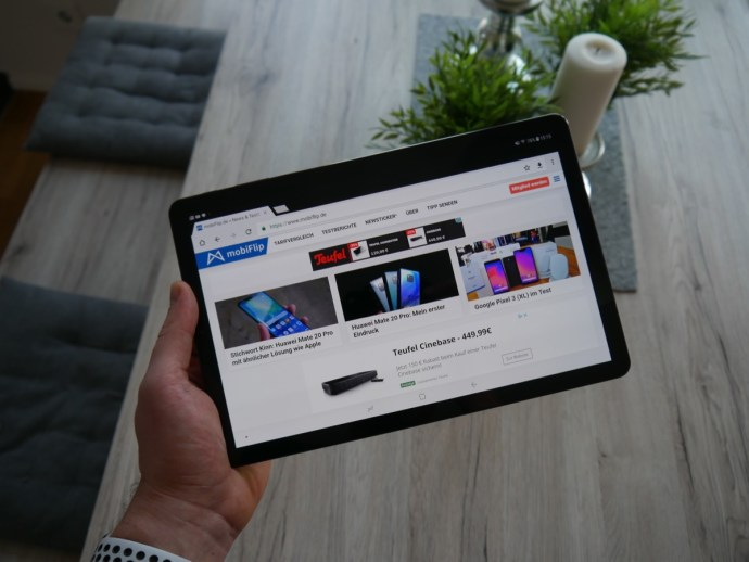 Samsung Galaxy Tab S4 Browser