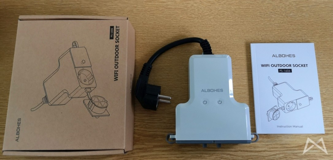 Albohes Wifi Outdoor Stecker Lieferumfang