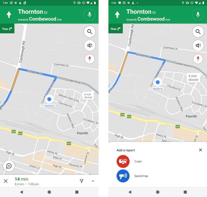 Google Maps Blitzer Stau Hinweis