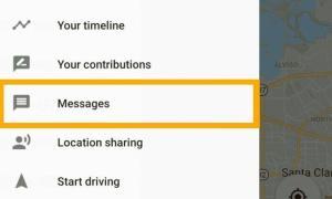 Google Maps Messages