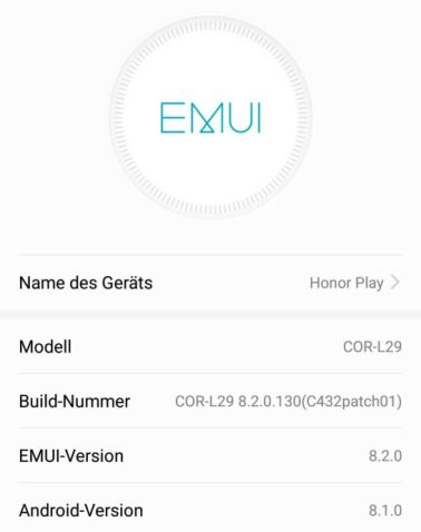 Honor Play Emui