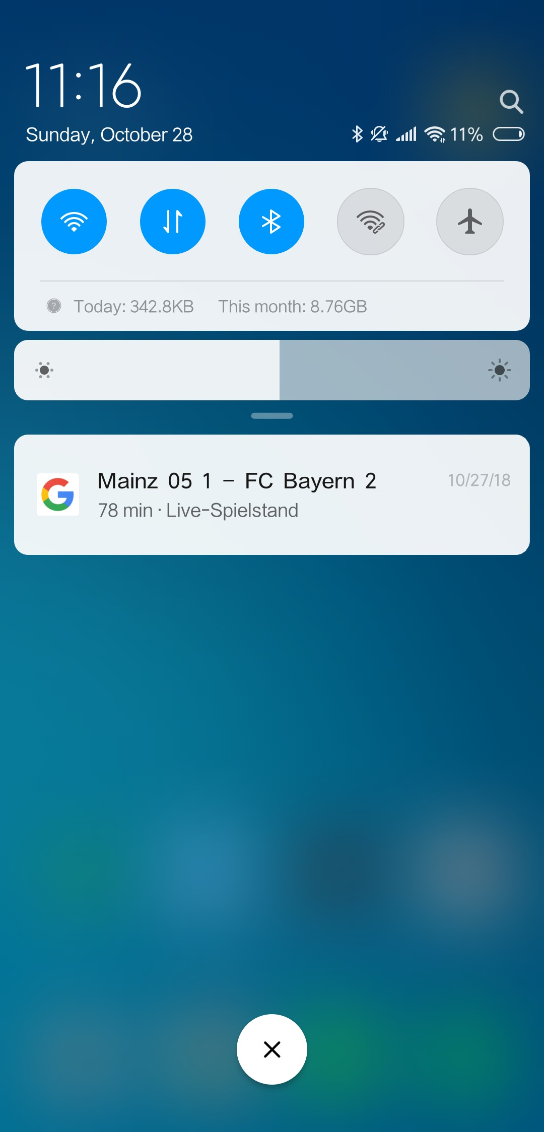 Xiaomi Mi 8 Notifications