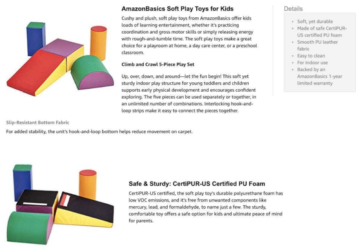 Amazon Amazonbasics Softbausteine