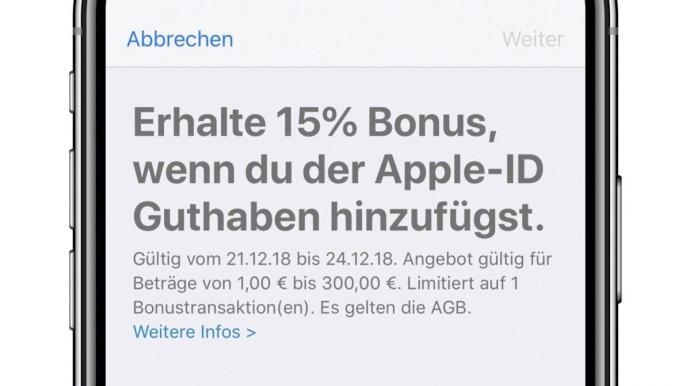 Itunes Guthaben Bonus Apple