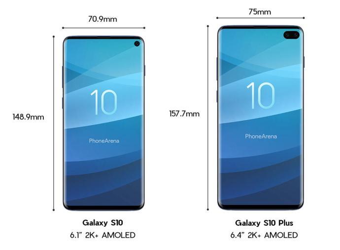 Samsung Galaxy S10 Plus Size Groesse