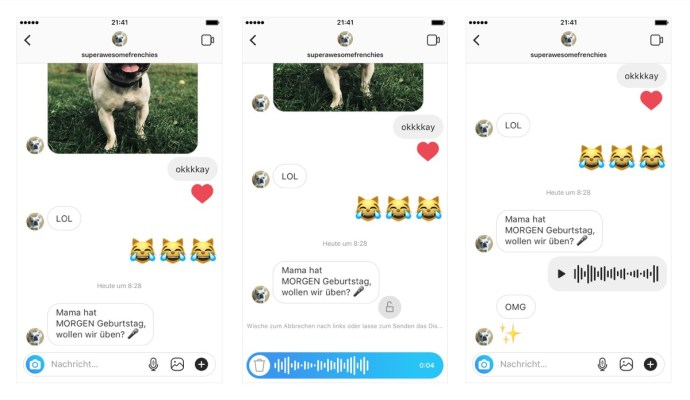 Voice Messages In Direct De