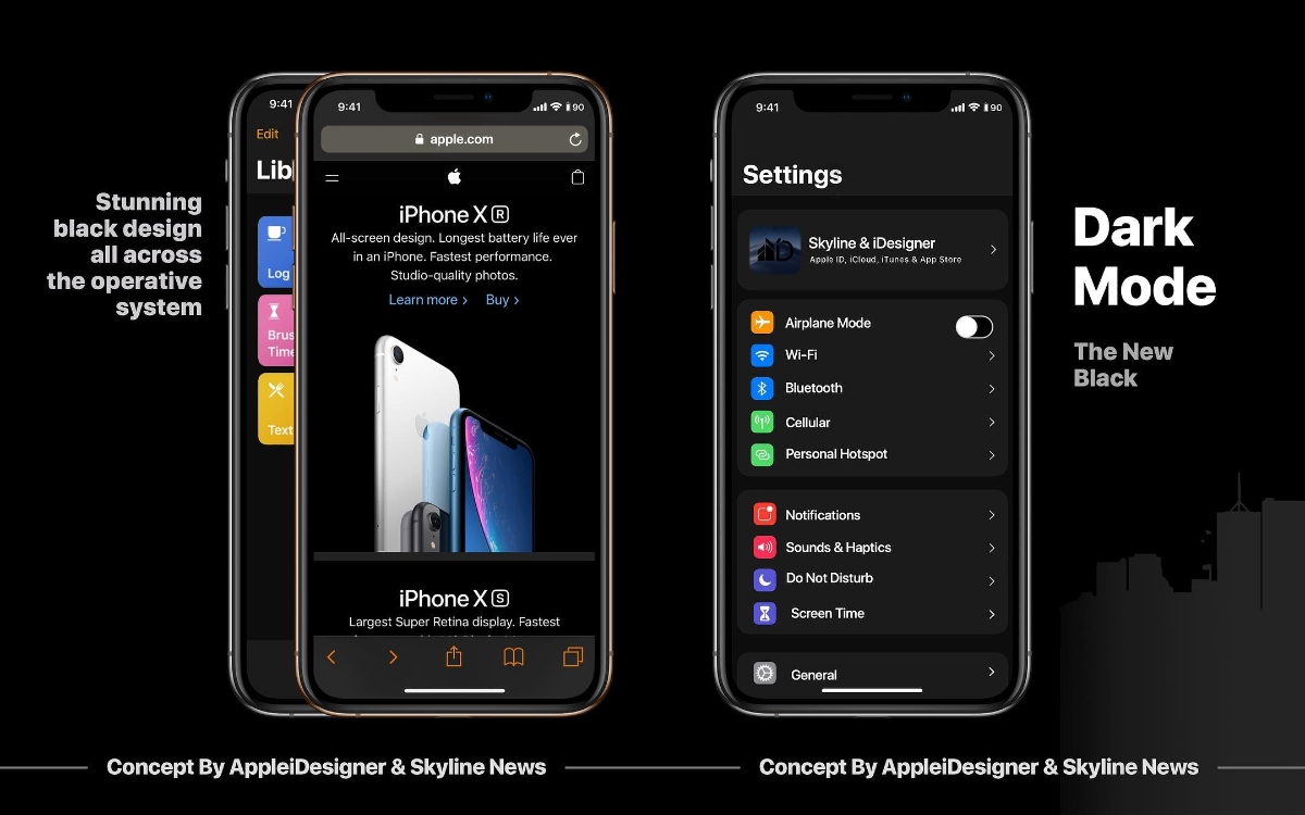 Apple Ios 13 Konzept Dark Mode